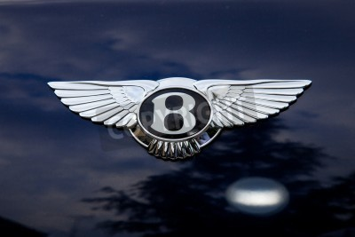 Affisch Bentley emblem - utanför shoting
