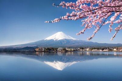 Affisch Berg Fuji i Kawaguchiko Japan