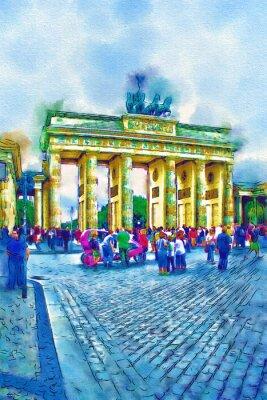 Affisch Berlin art illustration