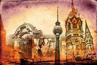 Affisch Berlin konstdesignillustration