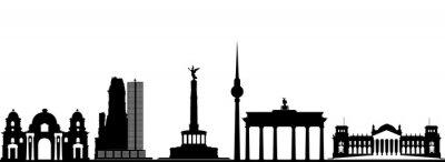 Affisch Berlin stadens silhuett