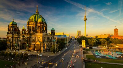 Affisch Berlin - utsikt över staden