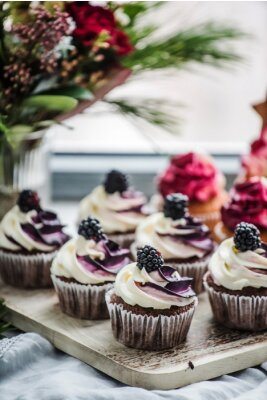 Affisch berry muffins