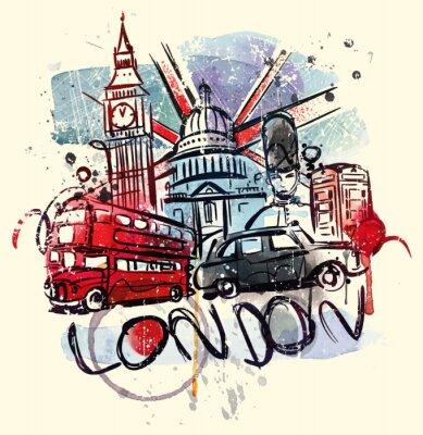 Affisch Besök London