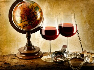 Affisch Bicchieri di vino rosso