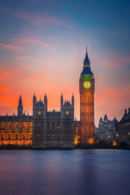 Affisch Big Ben och Houses of Parliament, London