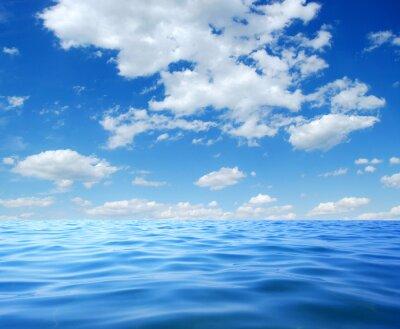 Affisch Blå havsvatten