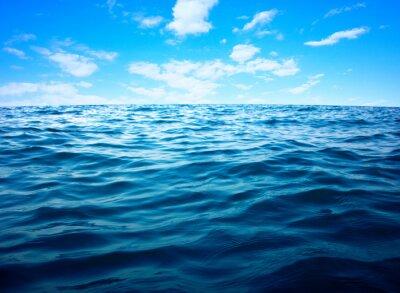 Affisch Blå havsvatten yta