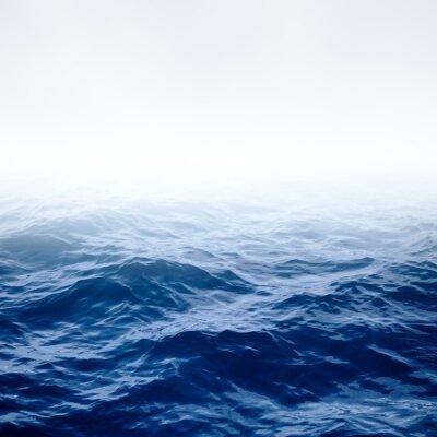 Affisch Blå klar havet och himlen
