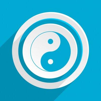 Affisch blå platt vektor ikon