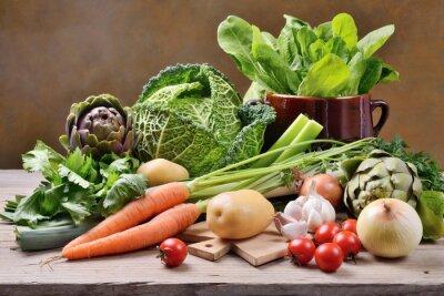 Affisch Blandade grönsaker