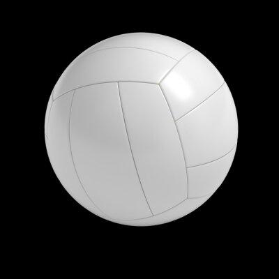 Affisch Blank volleyboll boll isolerad med klippning