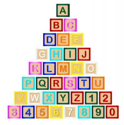 Affisch Block Brev Pyramid