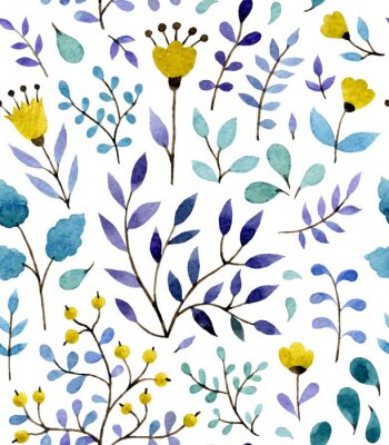 Affisch blommönster