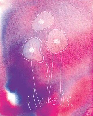 Affisch blommor