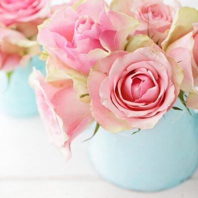 Affisch blommor i en vas
