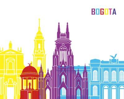 Affisch Bogota horisont pop