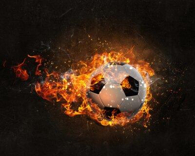 Affisch Boll brinnande brand