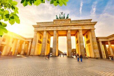 Affisch Brandenburg grind vid solnedgången