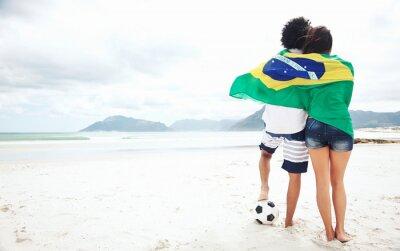 Affisch Brasil fotbollsfans