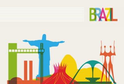 Affisch Brasilien turism skyline