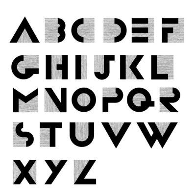 Affisch Brett dekorativt retro alfabet
