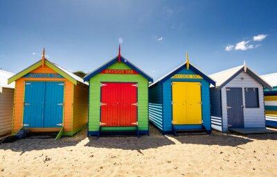 Affisch Brighton Bay Beach Houses