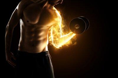 Affisch brinnande Muskler