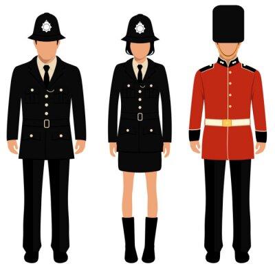 Affisch brittisk vakt, engelska människor, uk polis