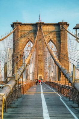 Affisch Brooklyn Bridge i New York City