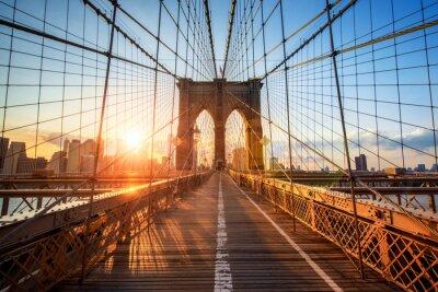 Affisch Brooklyn Bridge i New York USA
