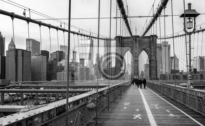 Affisch Brooklyn Bridge i New York, USA.