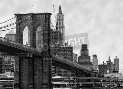 Affisch Brooklyn Bridge New York och East River