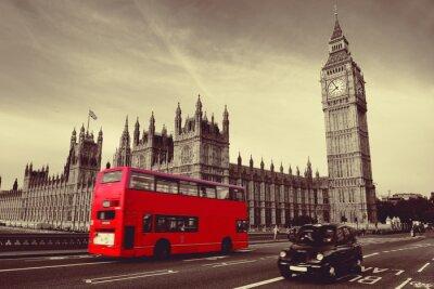Affisch Buss i London
