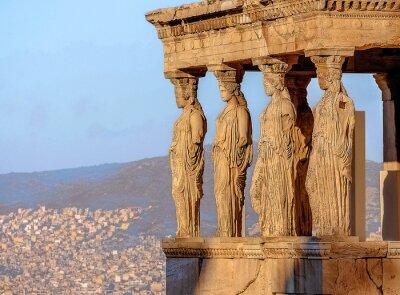 Affisch Caryatides, Akropolis i Aten