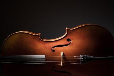 Affisch cello silhuett