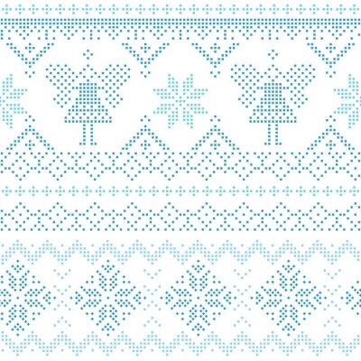 Affisch Christmas Scandinavian kort - för inbjudan, tapet