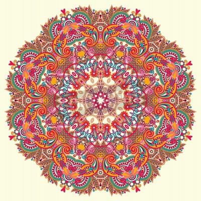 Affisch Cirkel prydnad, ornamental rund spets