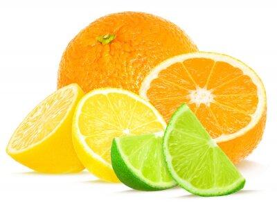 Affisch citrus isolerat