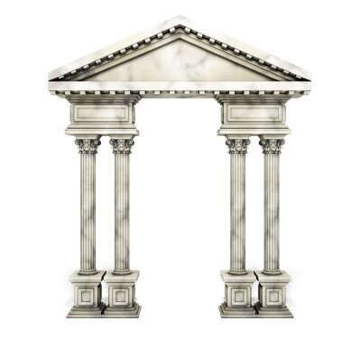 Affisch Classic korintiska kolumn Arch.