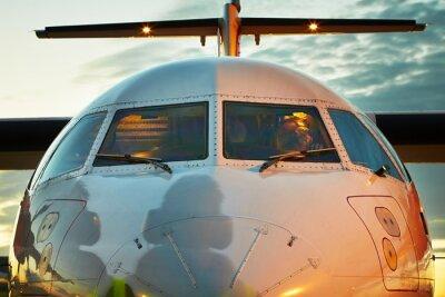 Affisch Cockpit av flygplanet