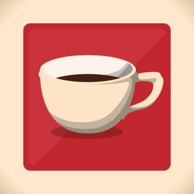 Affisch Coffe ikonen design