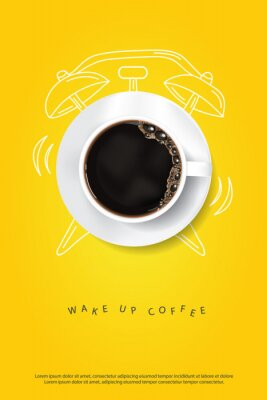 Affisch Coffee Poster Advertisement Flayers Vector Illustration