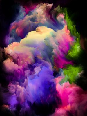 Affisch Colorful Cloud Abstraction