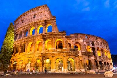 Affisch Colosseum skymning, Rom, Italien