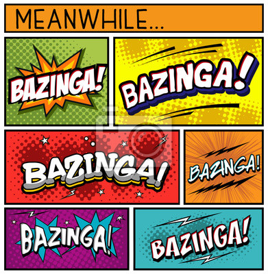 Affisch Comic Book Collection-Bazinga