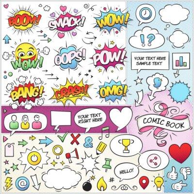Affisch Comic Book Elements Vector Pack