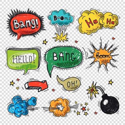 Affisch Comic pratbubbla