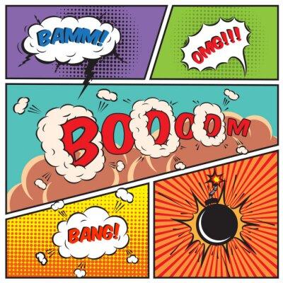 Affisch Comic pratbubblor