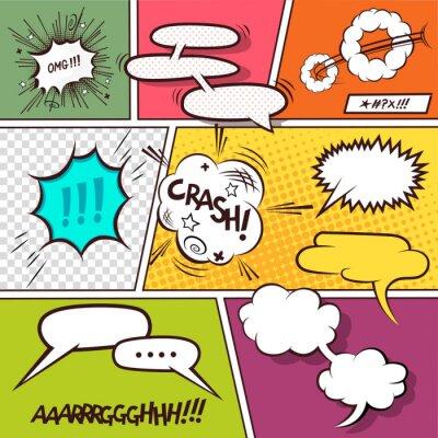 Affisch Comic Speech Bubbles